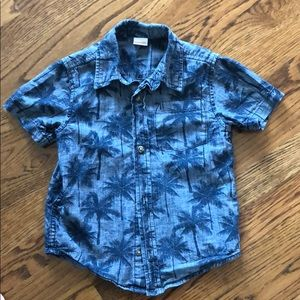 Gymboree tropical palm shirt